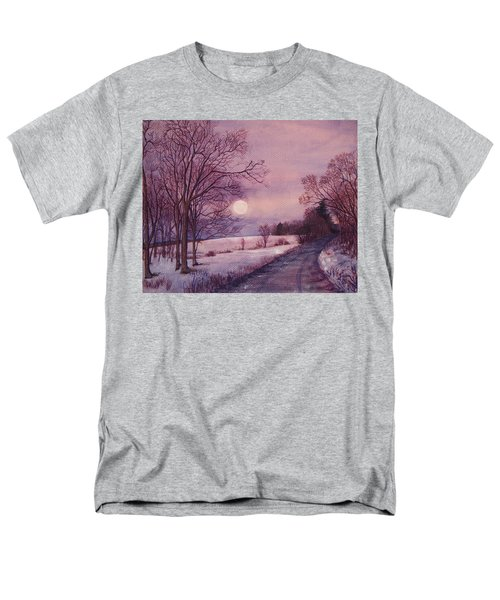 Men's T-Shirt  (Regular Fit) featuring the painting Moon Rising by Joy Nichols