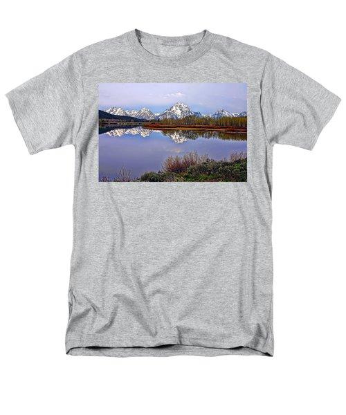 Mount Moran And Jackson Lake Men's T-Shirt  (Regular Fit) by Gary Holmes