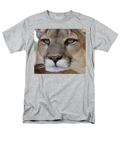 Mountain Lion Portrait 2 Men's T-Shirt  (Regular Fit) by Diane Alexander