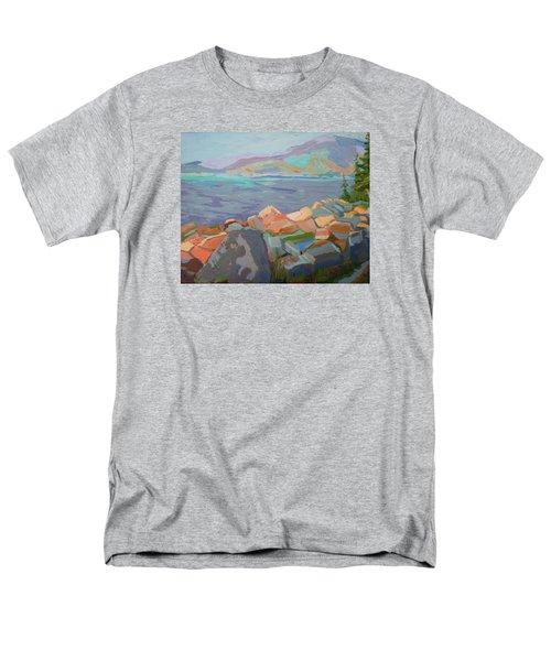 Mt. Desert From Schoodic Point Men's T-Shirt  (Regular Fit) by Francine Frank