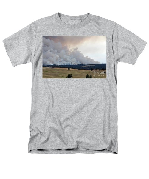 Men's T-Shirt  (Regular Fit) featuring the photograph Myrtle Fire West Of Wind Cave National Park by Bill Gabbert