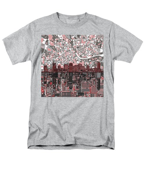 Nashville Skyline Abstract 3 Men's T-Shirt  (Regular Fit)