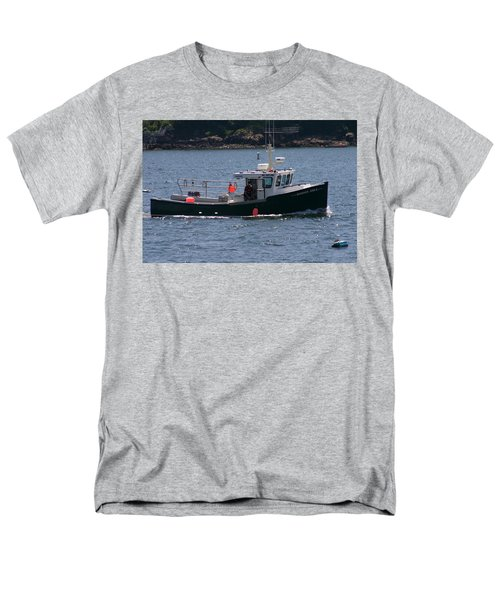 Men's T-Shirt  (Regular Fit) featuring the photograph New England Fishing Boat by Denyse Duhaime