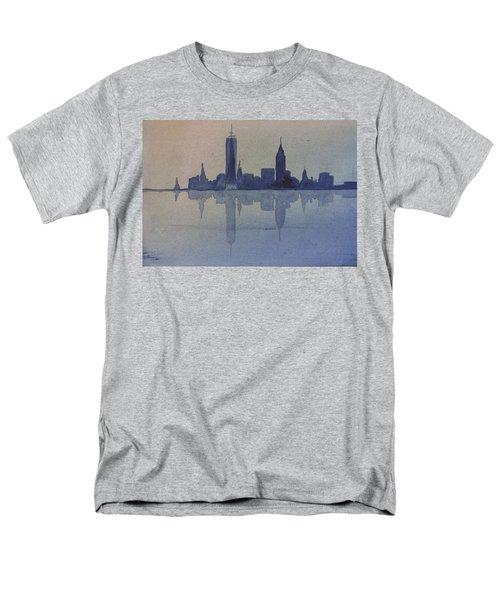 New York Skyline  Men's T-Shirt  (Regular Fit) by Donna Walsh