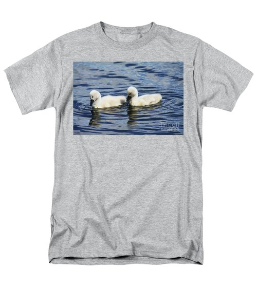Men's T-Shirt  (Regular Fit) featuring the photograph Newborn Mute Swans by Alyce Taylor