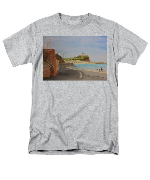 Men's T-Shirt  (Regular Fit) featuring the painting Newcastle Nsw Australia by Tim Mullaney