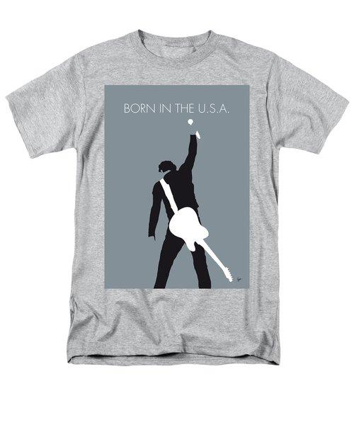 No017 My Bruce Springsteen Minimal Music Poster Men's T-Shirt  (Regular Fit) by Chungkong Art