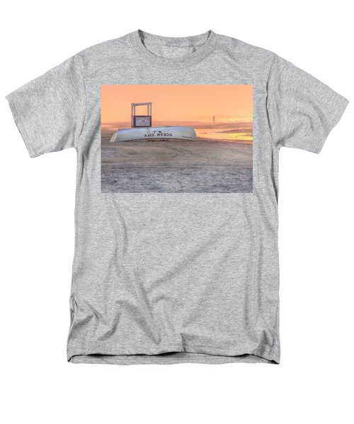 Ocean City Beach Patrol Men's T-Shirt  (Regular Fit) by Lori Deiter