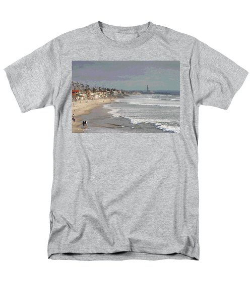 Men's T-Shirt  (Regular Fit) featuring the photograph Oceanside South Of Pier by Tom Janca