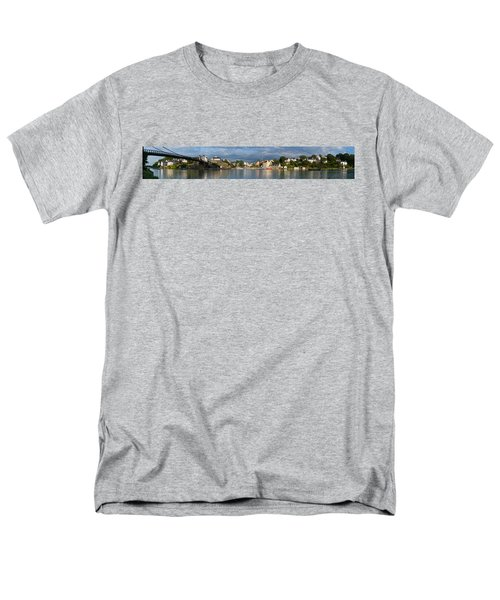 Old Bridge Over The Sea, Le Bono, Gulf Men's T-Shirt  (Regular Fit) by Panoramic Images