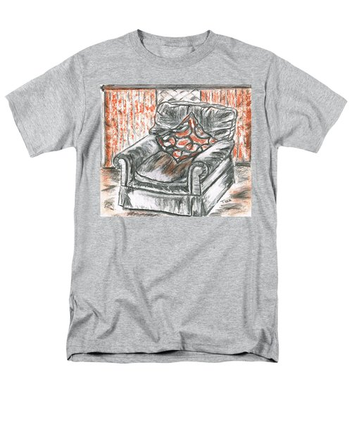 Men's T-Shirt  (Regular Fit) featuring the drawing Old Cozy Chair by Teresa White