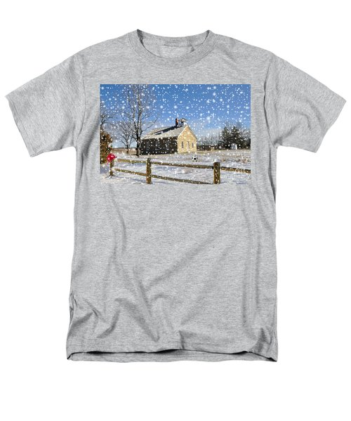 Old Kansas Schoolhouse Men's T-Shirt  (Regular Fit) by Liane Wright