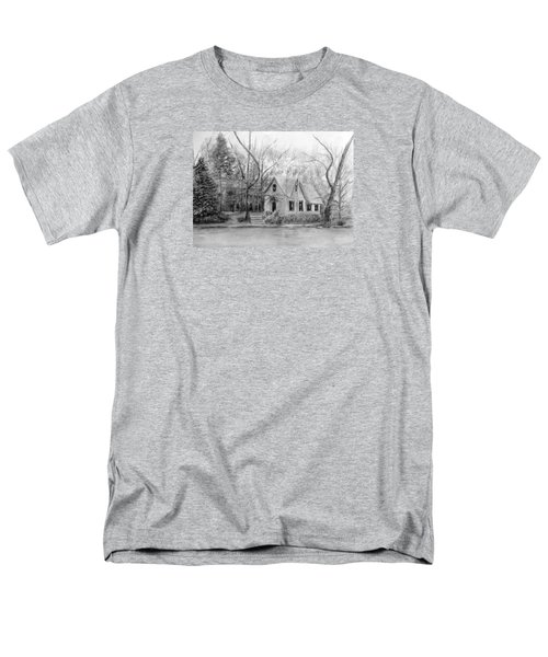 Old Library On Lake Afton - Winter Men's T-Shirt  (Regular Fit) by Loretta Luglio