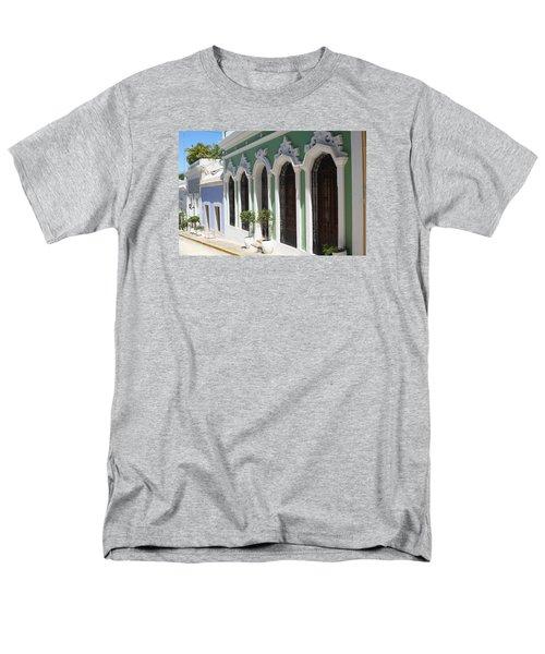 Old San Juan Street Men's T-Shirt  (Regular Fit) by The Art of Alice Terrill