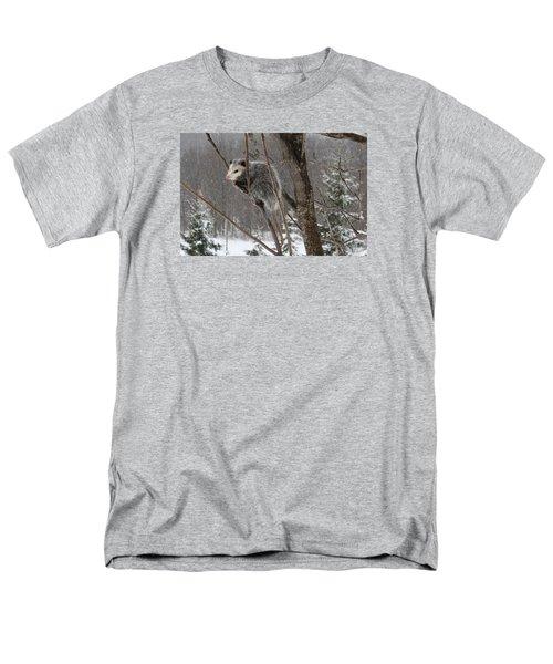 Opossum In A Tree Men's T-Shirt  (Regular Fit) by Lucinda VanVleck