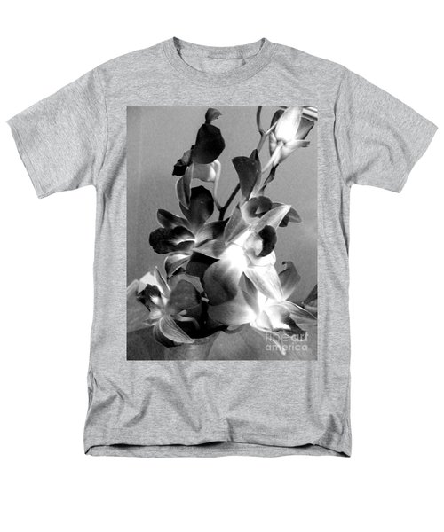 Orchids 2 Bw Men's T-Shirt  (Regular Fit) by Barbara Griffin