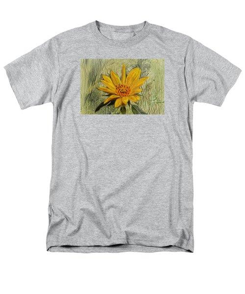 Painterly Sunflower Men's T-Shirt  (Regular Fit) by Sandi OReilly