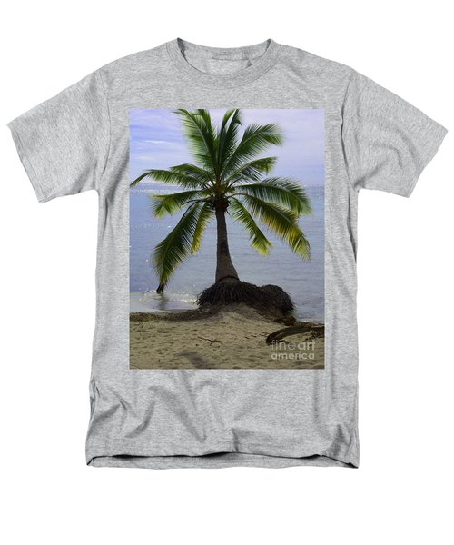 Palm At The Edge Of The Sea Number Two Men's T-Shirt  (Regular Fit) by Heather Kirk