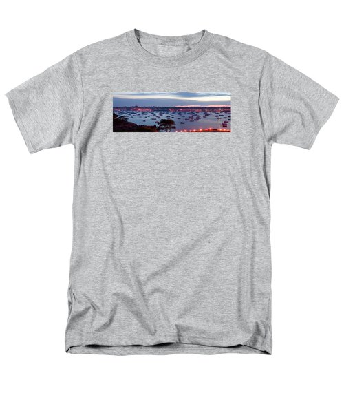Panoramic Of The Marblehead Illumination Men's T-Shirt  (Regular Fit) by Jeff Folger