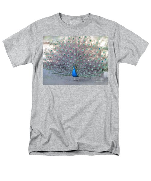 Men's T-Shirt  (Regular Fit) featuring the photograph Peacock3  by Laurianna Taylor