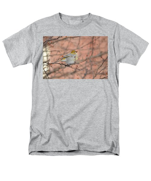 Men's T-Shirt  (Regular Fit) featuring the photograph Pine Grosbeak by James Petersen