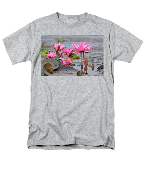 Pink Lotuses Men's T-Shirt  (Regular Fit) by Fotosas Photography