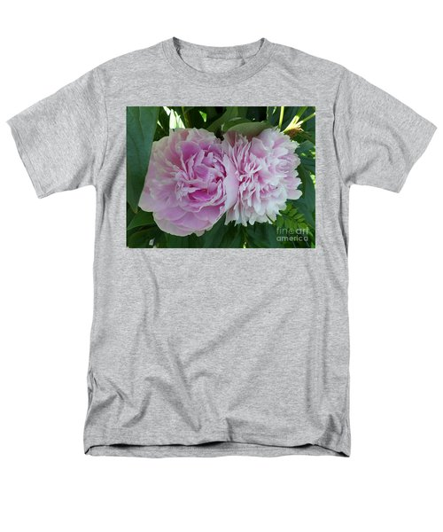 Pink Peonies 2 Men's T-Shirt  (Regular Fit) by HEVi FineArt