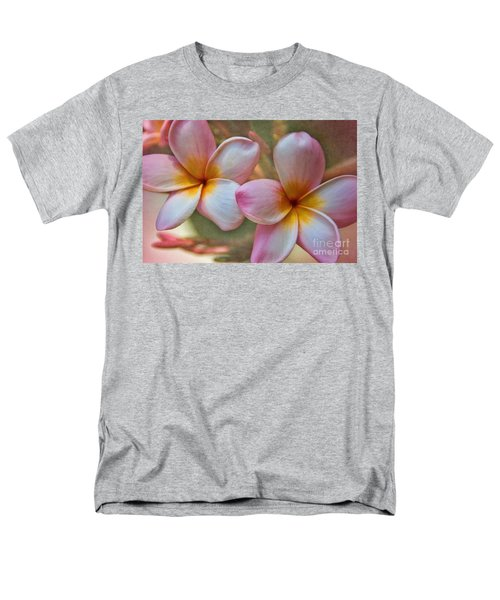Men's T-Shirt  (Regular Fit) featuring the photograph Plumeria Pair by Peggy Hughes