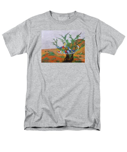 Men's T-Shirt  (Regular Fit) featuring the painting Prayer Flags by Deborha Kerr