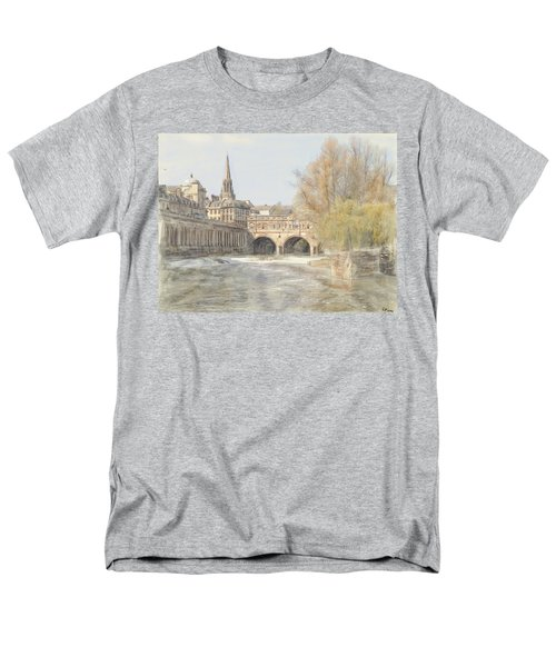 Pulteney Bridge Bath Men's T-Shirt  (Regular Fit) by Ron Harpham