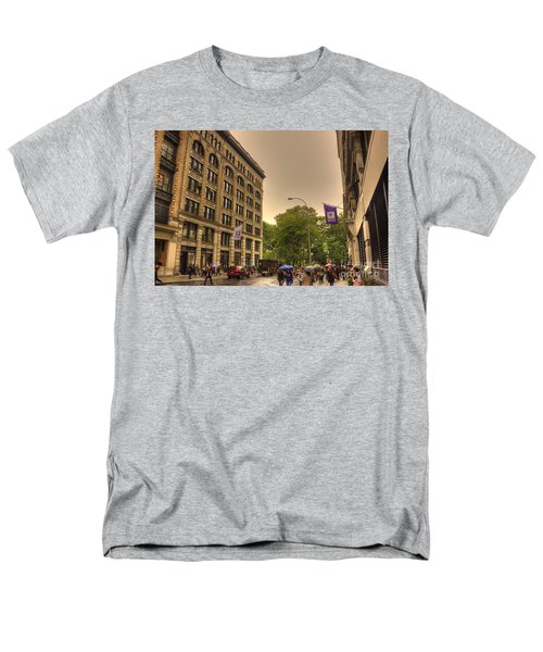 Raining At Nyu Men's T-Shirt  (Regular Fit) by David Bearden