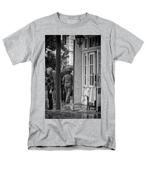Rainy Day Lunch New Orleans Men's T-Shirt  (Regular Fit) by Kathleen K Parker