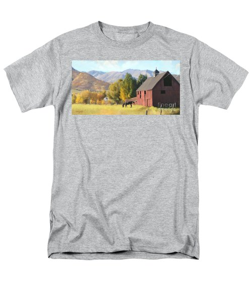 Men's T-Shirt  (Regular Fit) featuring the painting Red Barn by Rob Corsetti