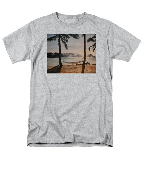Men's T-Shirt  (Regular Fit) featuring the painting Relaxing At The Beach by Ian Donley