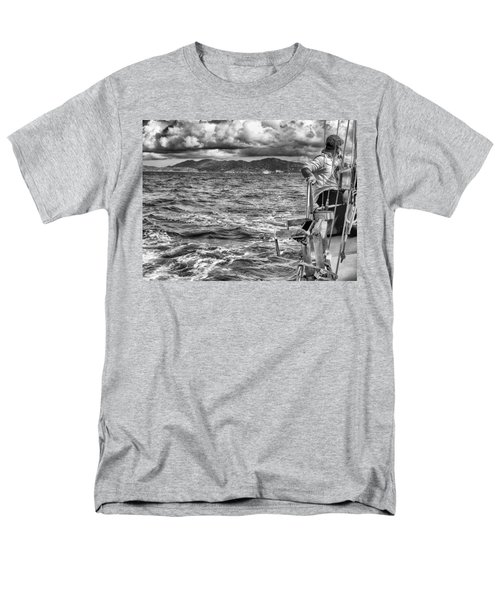 Men's T-Shirt  (Regular Fit) featuring the photograph Riding The Crest Of The Wave by Howard Salmon
