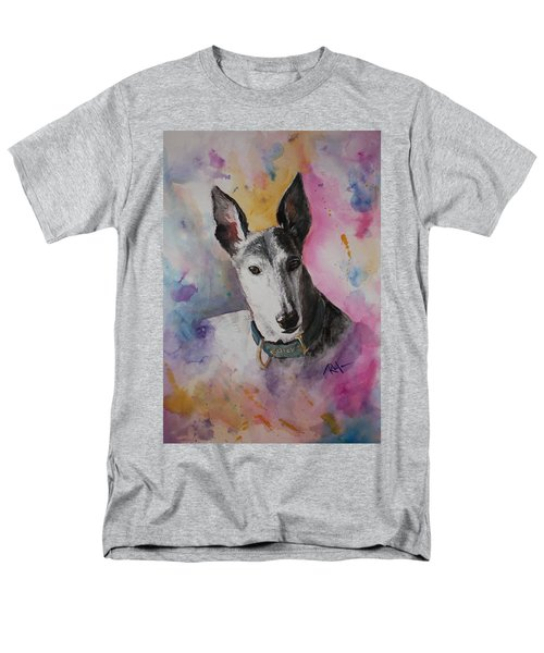 Men's T-Shirt  (Regular Fit) featuring the painting Riding The Rainbow by Rachel Hames
