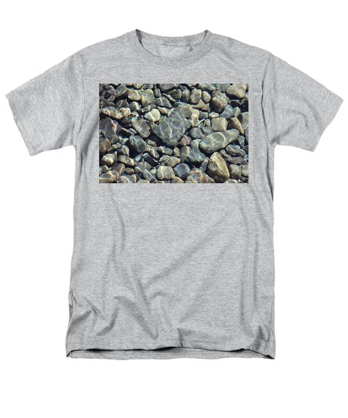 Men's T-Shirt  (Regular Fit) featuring the photograph River Rocks One by Chris Thomas