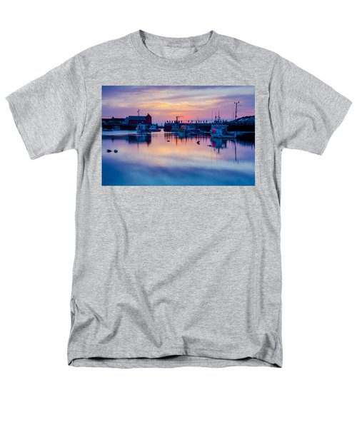Rockport Harbor Sunrise Over Motif #1 Men's T-Shirt  (Regular Fit) by Jeff Folger