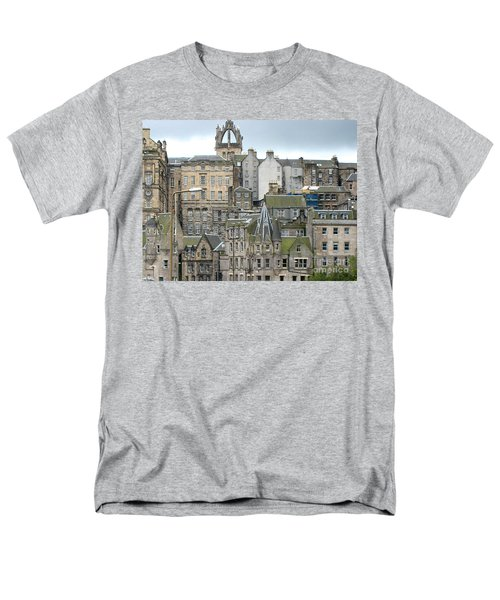 Men's T-Shirt  (Regular Fit) featuring the photograph Roofs Of Edinburgh  by Suzanne Oesterling