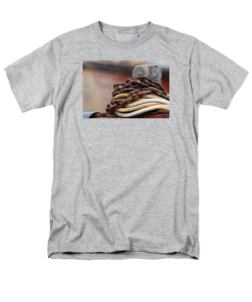 Men's T-Shirt  (Regular Fit) featuring the photograph Rope And Chain by Wendy Wilton