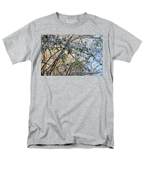 Men's T-Shirt  (Regular Fit) featuring the painting Rosa Canina  by Felicia Tica