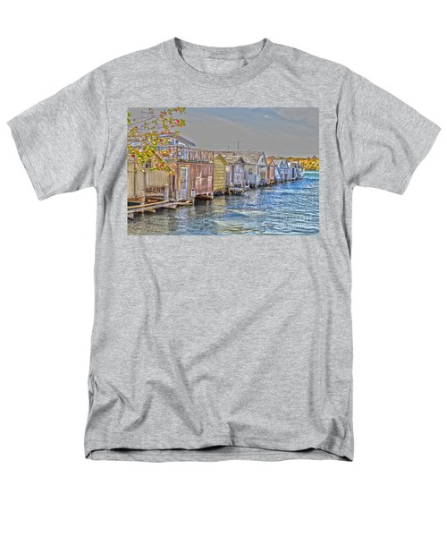 Row Of Boathouses Men's T-Shirt  (Regular Fit) by William Norton