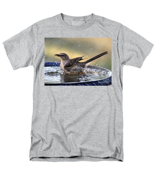 Men's T-Shirt  (Regular Fit) featuring the photograph Rub-a-dub-dub Mockingbird by Nava Thompson