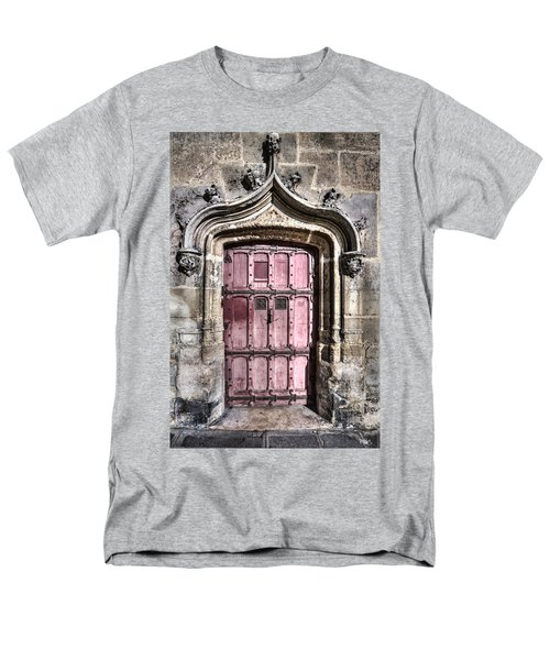 Ruins With Red Door Men's T-Shirt  (Regular Fit) by Evie Carrier