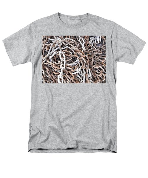 Men's T-Shirt  (Regular Fit) featuring the photograph Rusty Links by Cheryl Hoyle