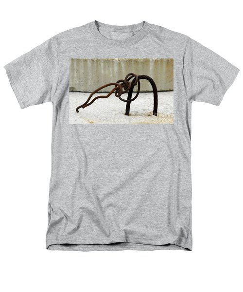 Men's T-Shirt  (Regular Fit) featuring the photograph Rusty Twisted Metal I by Lilliana Mendez