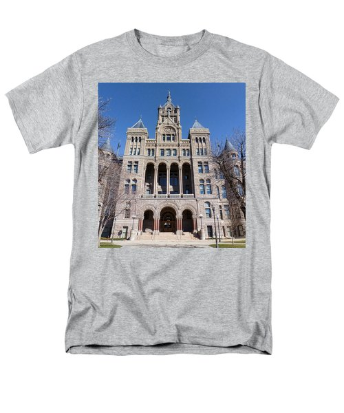 Men's T-Shirt  (Regular Fit) featuring the photograph Salt Lake City - City Hall - 2 by Ely Arsha