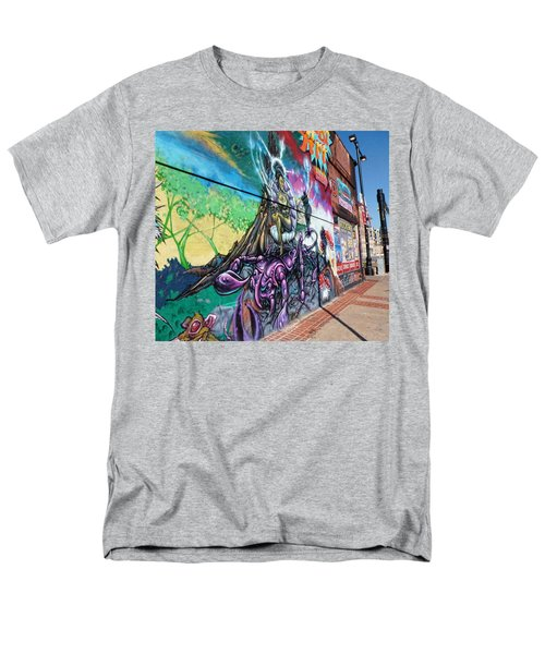 Men's T-Shirt  (Regular Fit) featuring the photograph Salt Lake City - Mural 3 by Ely Arsha