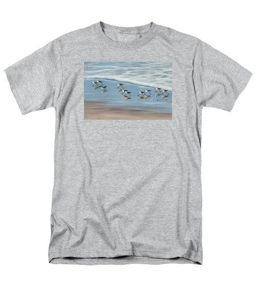 Sandpipers Men's T-Shirt  (Regular Fit) by Tina Obrien