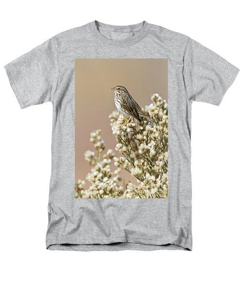 Men's T-Shirt  (Regular Fit) featuring the photograph Savannah Sparrow by Bryan Keil